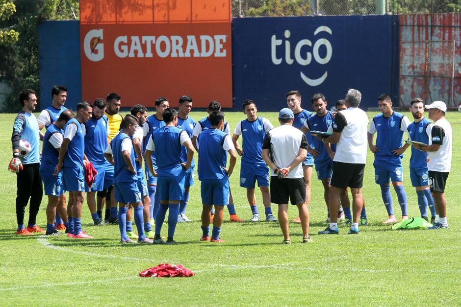 La Selección Nacional entrenó este miércoles en el Proyecto Gol, de la zona 15. (Foto: Luis Barrios/Soy502)