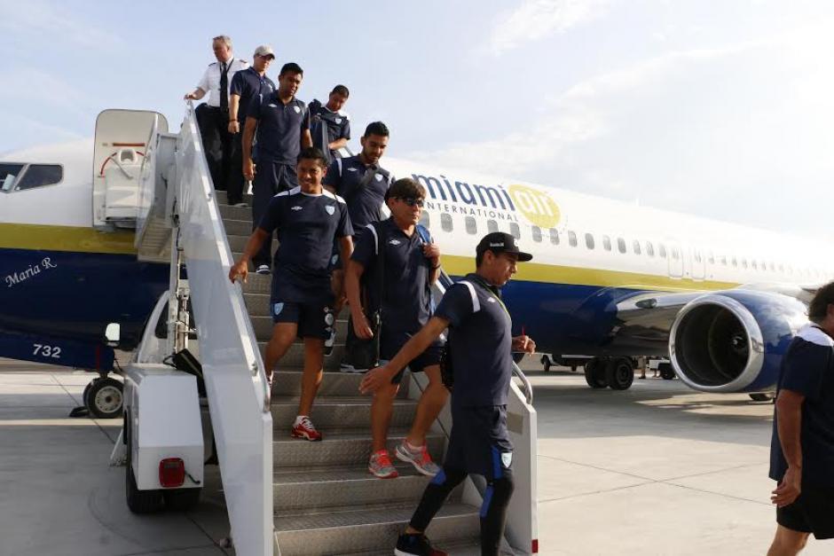 La Selección de Fútbol de Guatemala llegó a la ciudad de Charlotte en Carolina del Norte para el juego ante Cuba. (Foto:Gabriel Tiul/Enviado CDG)