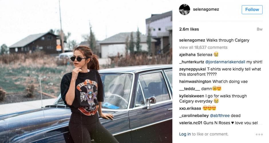Selena confiesa su afición por la aplicación. (Foto: Instagram)