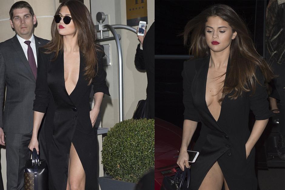 Selena Gomez lució un vestido bastante revelador durante su estancia en París. (Foto: dailymail.co.uk)