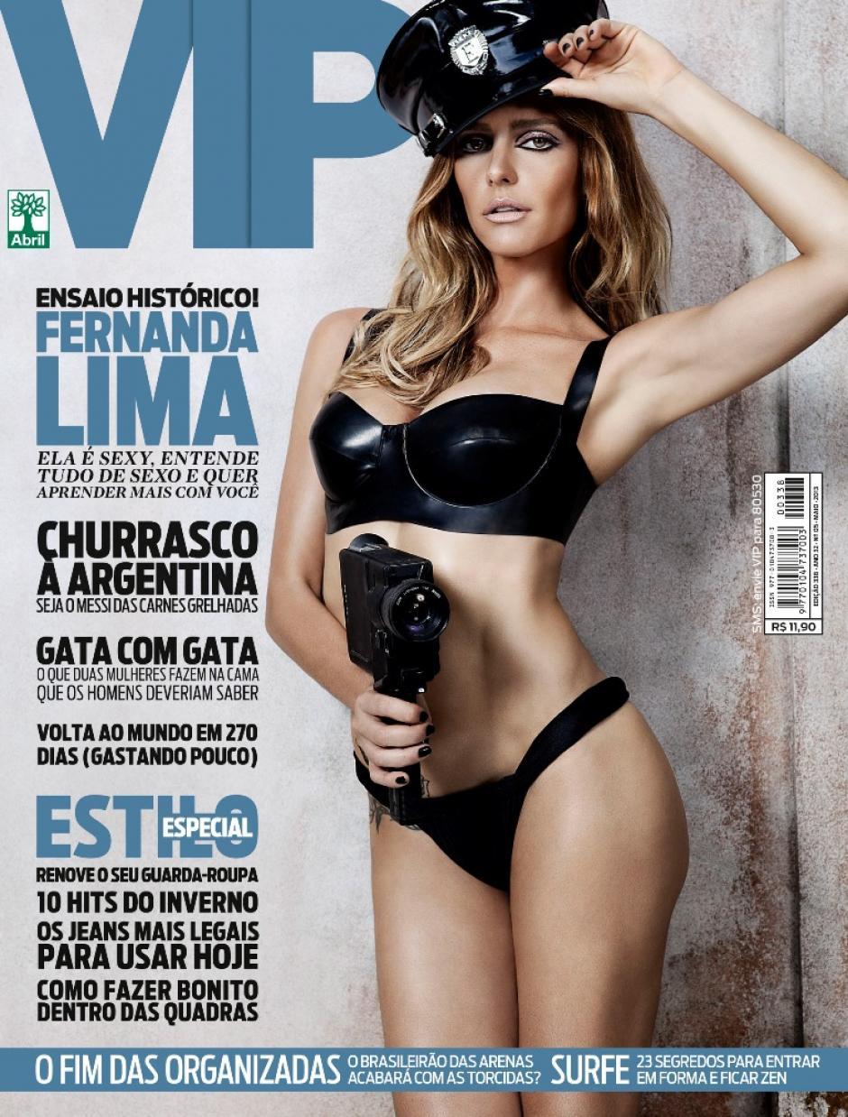 Para la revista brasileña VIP en la portada de abril de 2013.