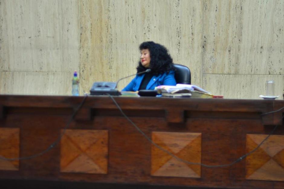 La jueza Yasmmin Barrios es la titular del tribunal donde se desarrolla el juicio. (Foto: Jesús Alfonso/Soy502)