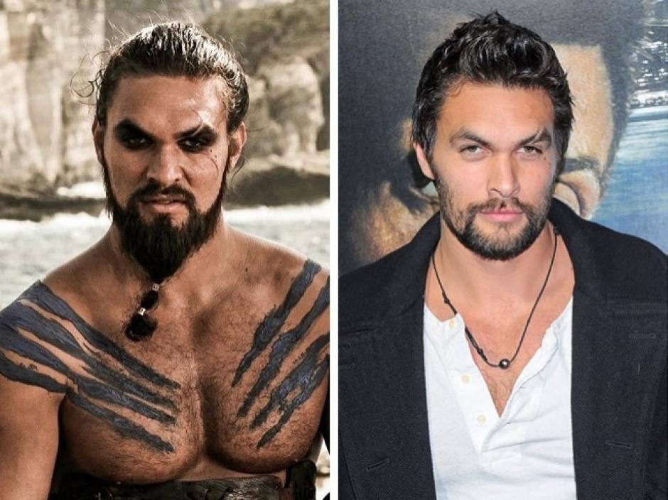 Khal Drogo y Jason Momoa Juego de tronos. (Foto: elsalvador.com)