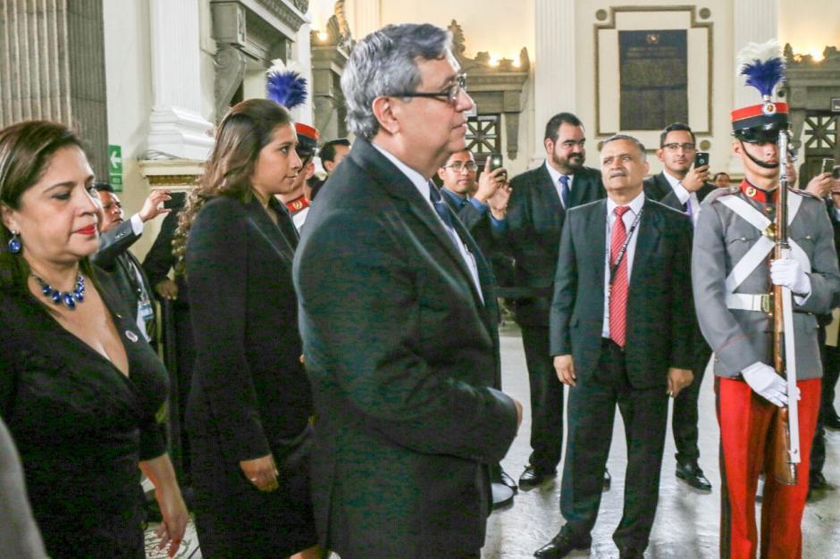 El vicepresidente Cabrera también participó en Sesión Solemne. (Foto: Alejandro Balán/Soy502)