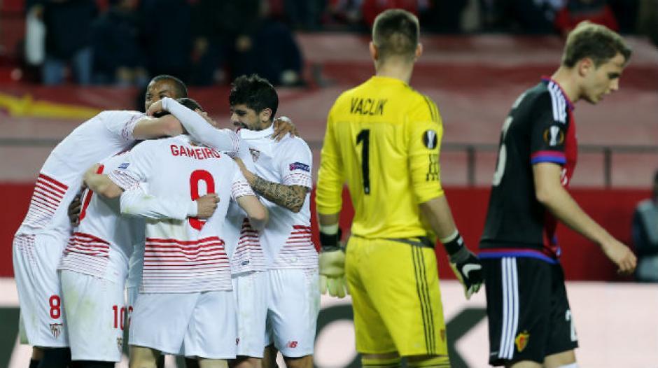 El Sevilla dejó en el camino al Basilea. (Foto: AFP)