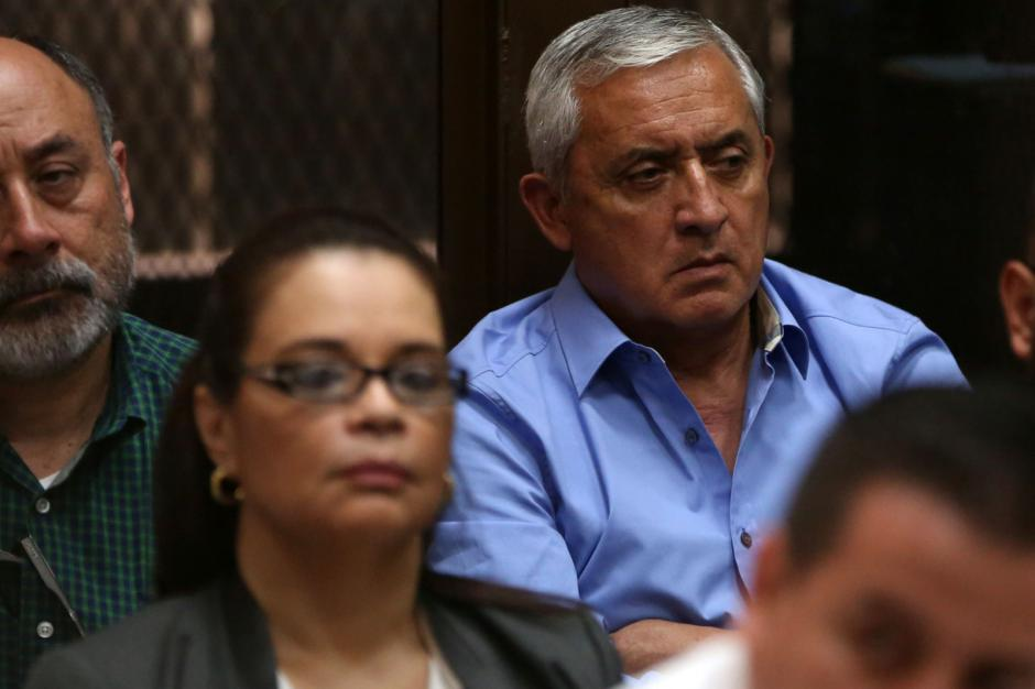 Estos son los gestos de Otto Pérez Molina durante el cuarto día de audiencias en el Caso TCQ. (Foto: Wilder López/Soy502)