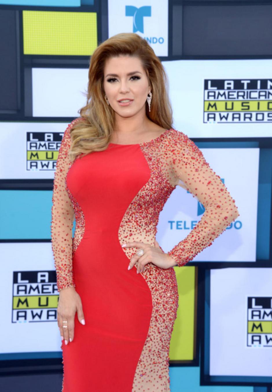 La ex reina de belleza, Alicia Machado. (Foto: Telemundo)