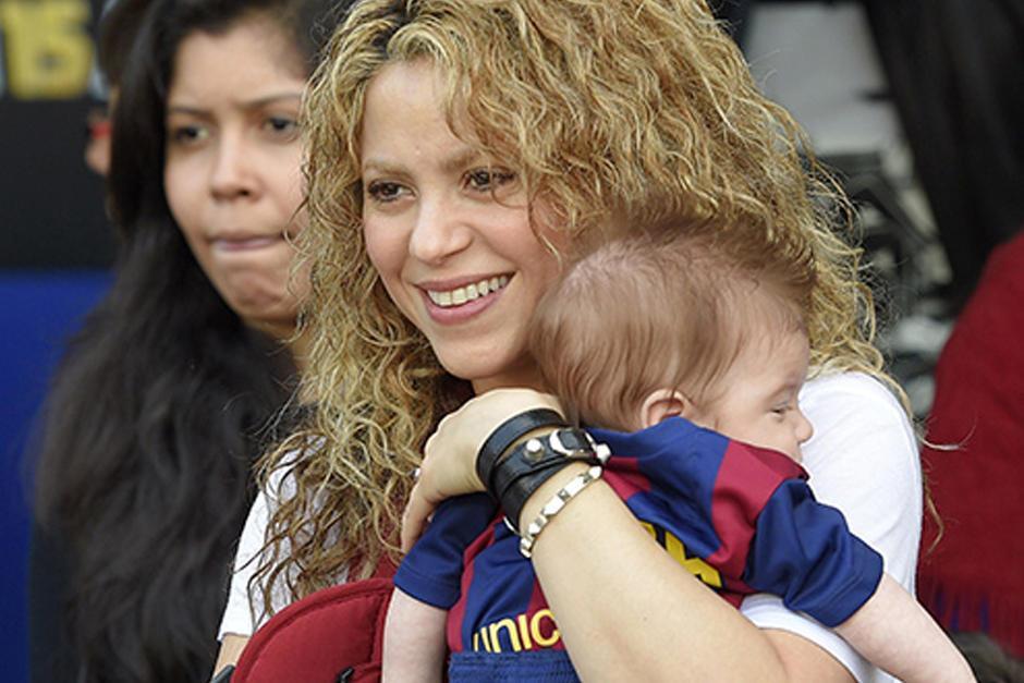 El hijo menor de Shakira, Sasha nació en enero de 2015. (Foto: Archivo)