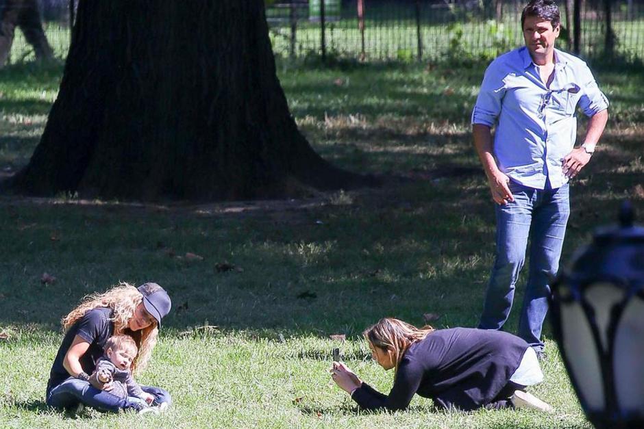 El centro de atención era el pequeño hijo de Shakira y Piqué de 8 meses. (Foto: Grosby Group)