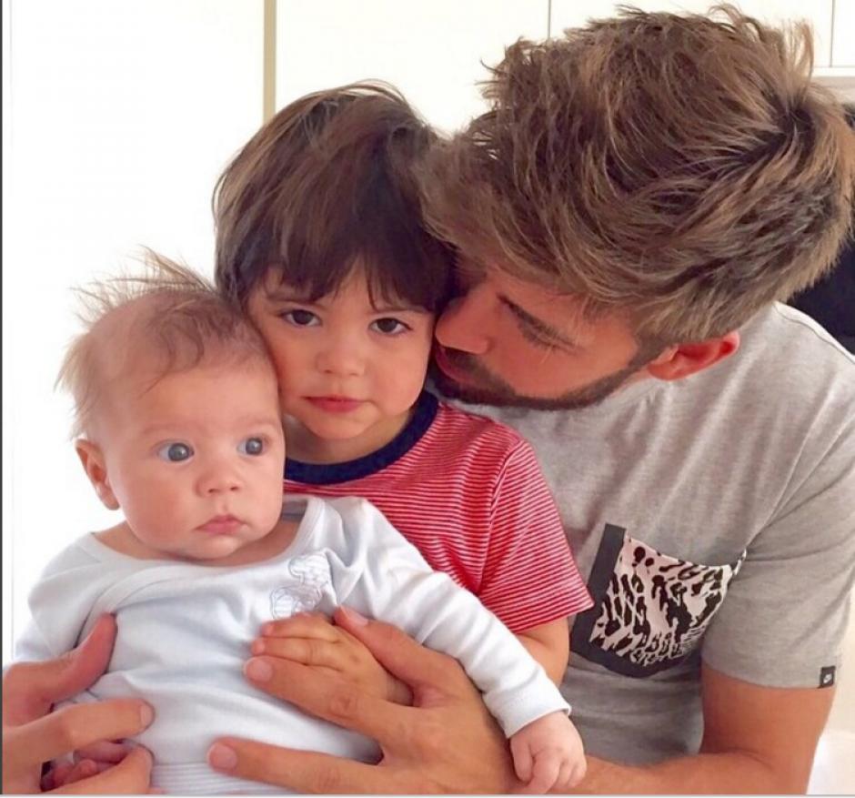 Gerard comparte imágenes con regularidad de sus hijos Milan y Sasha. (Foto: Instagram/Gerard Piqué)