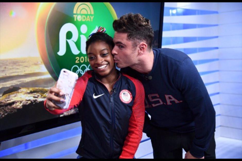 Zac conoció a Simone en su visita a Brasil esta semana. (Foto: Instagram)