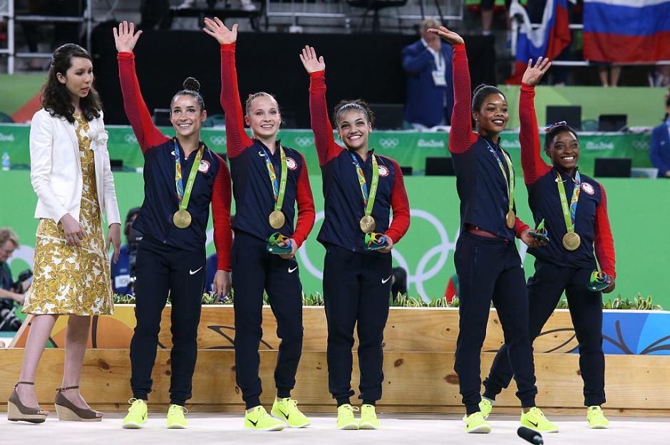 Biles junto al resto de la delegación estadounidense de gimnasia. (Foto: depor.com)