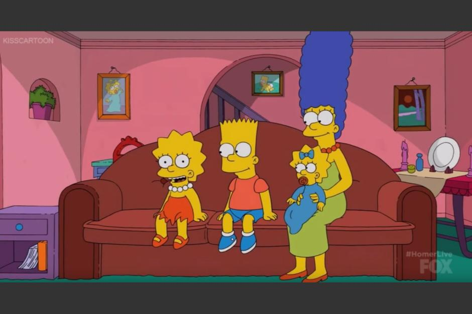 La familia Simpson anuncia la transmisión. (Captura de pantalla: Phil Crow/Youtube)