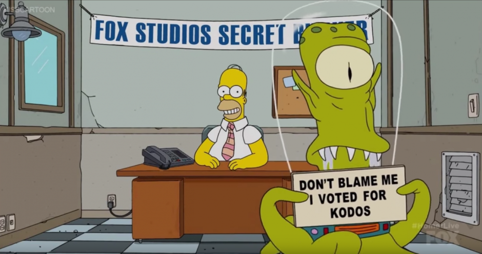 Homero se encuentra en un bunker secreto de Fox. (Captura de pantalla: Phil Crow/Youtube)
