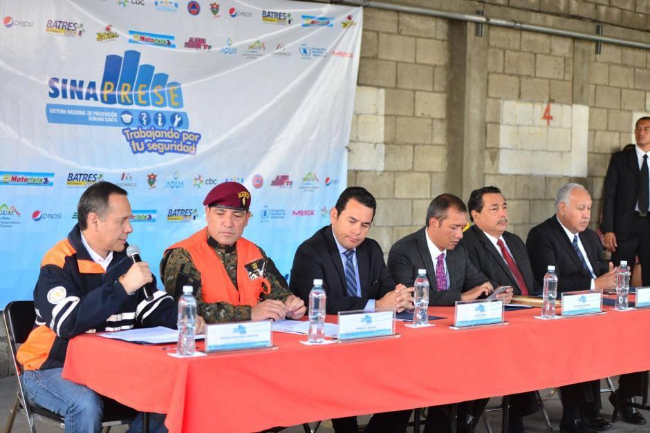 El presidente Jimmy Morales explicó la labor de Sinaprese. (Foto: Jesús Alfonso/Soy502)