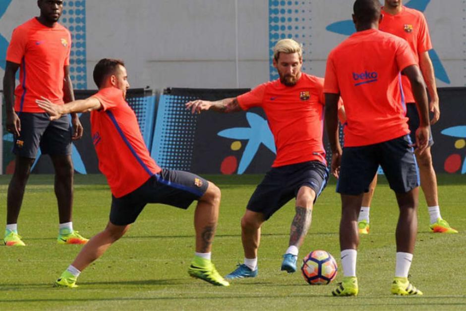 Messi regala su calidad hasta en los entrenos de Barcelona. (Foto: EFE)