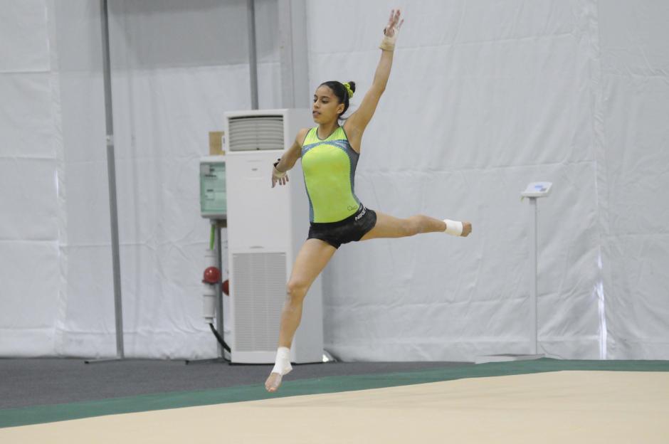 Piso, barras, viga y salto son las cuatro pruebas en las cuales verá acción Ana Sofía. (Foto: Pedro Pablo Mijangos/Soy502)