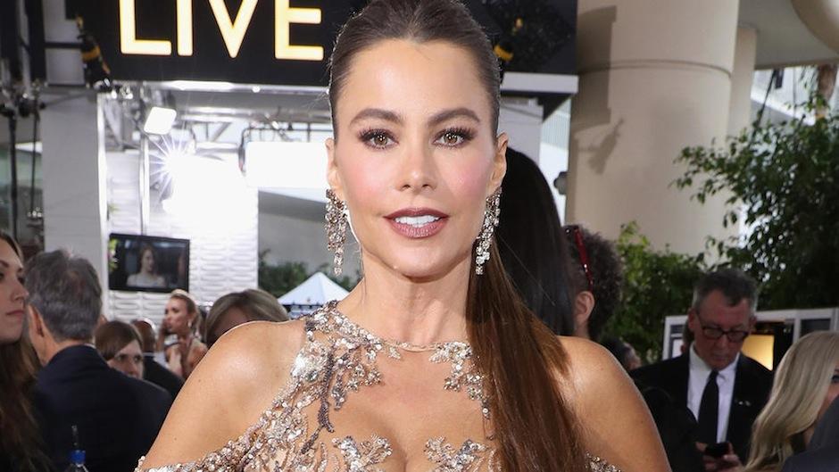 Así lució Sofía Vergara en los Golden Globes. (Foto: Telemundo/ Getty Images)