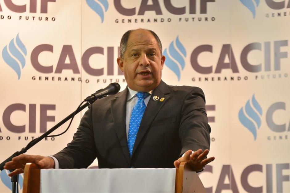 El presidente de Costa Rica cumple una visita oficial a Guatemala.  (Foto: Wilder López/Soy502)