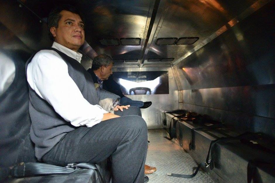 Gustavo Martínez fue llevado al Preventivo de la zona 18 a espera de la audiencia de primera declaración. (Foto: Wilder López/Soy502)