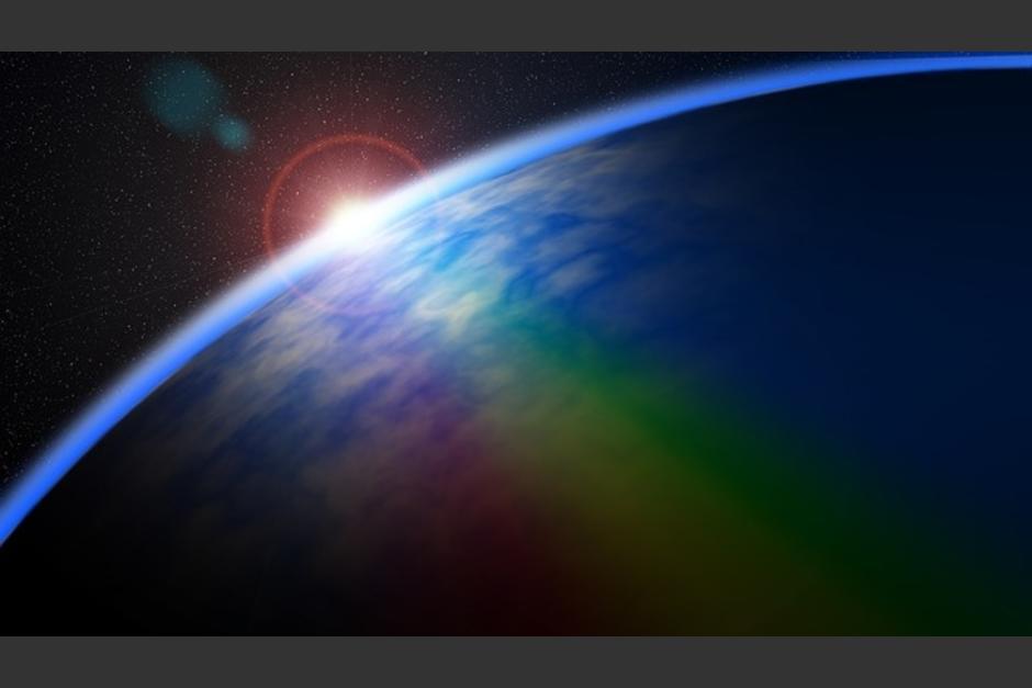 Así luce un amanecer desde el espacio. (Imagen: Twitter/@Astro_Jeff)