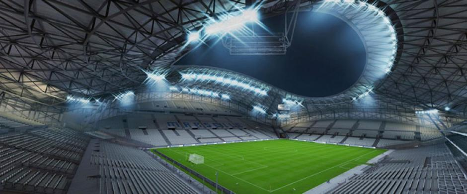 Stade Vélodrome (Olympique de Marseille, Ligue 1). (Imagen:Electronic Arts)