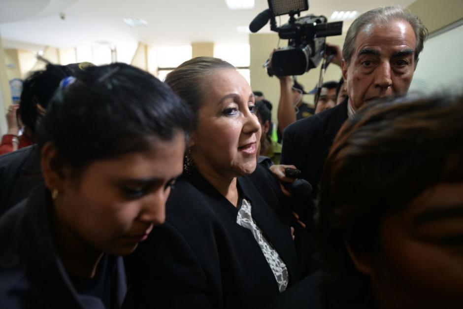 Al finalizar la audiencia fue enviada a prisión preventiva. (Foto: Wilder López/Soy502)