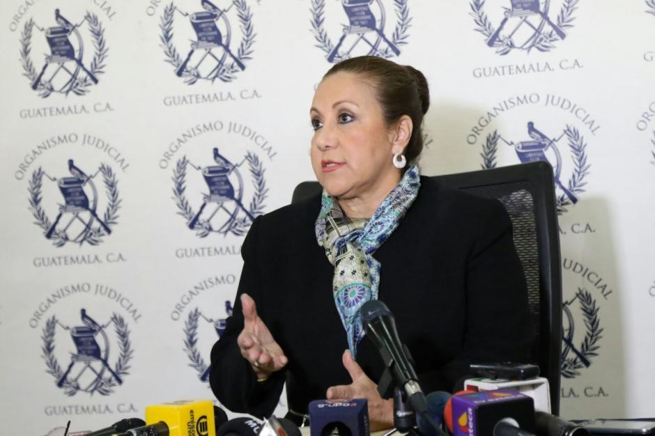 La magistrada habló varias veces sobre el juez Carlos Ruano quien sigue el proceso contra su hijo. (Foto: Alejandro Balan/Soy502)
