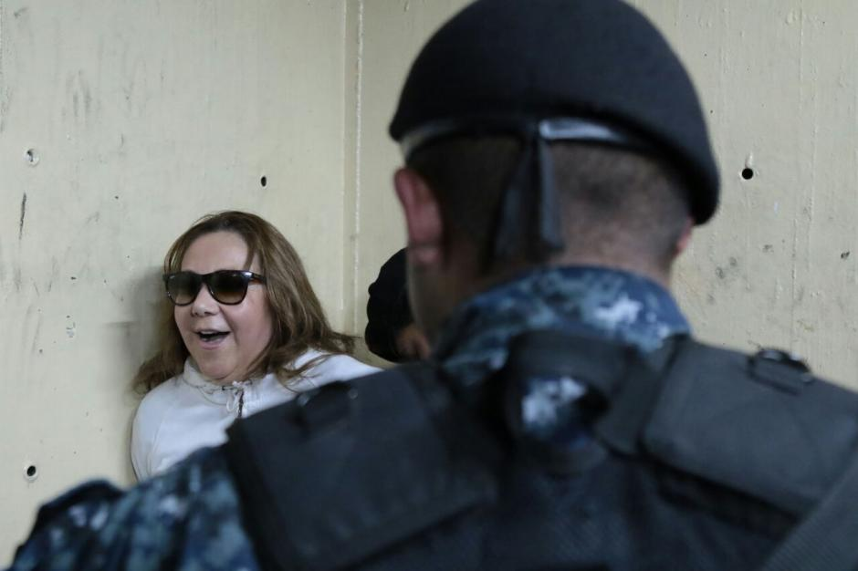 Así llegó a la Torre de Tribunales. (Foto: Alejandro Balan/Soy502)