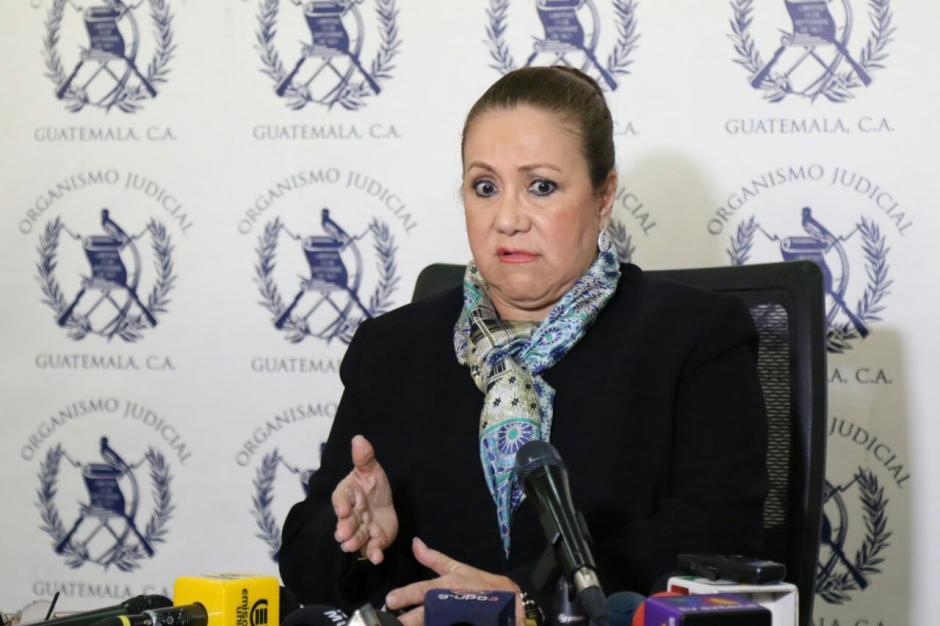 La magistrada de la Corte Suprema de Justicia ofreció conferencia de prensa. (Foto: Alejandro Balan/Soy502)