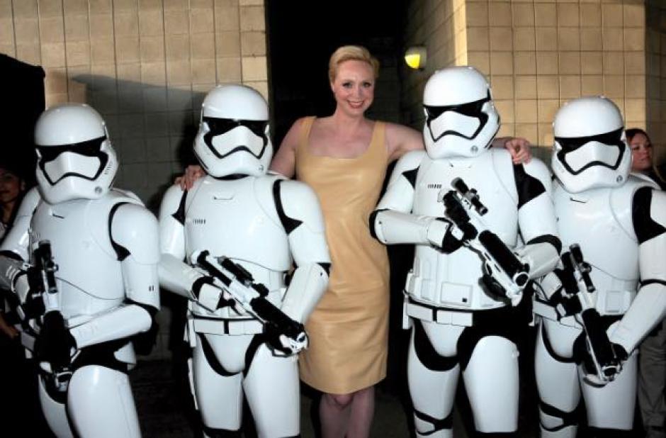 Gwendoline Christie, que interpreta a la Capitán Phasma, participó en la reunión de fanáticos de Star Wars. (Foto: El Comercio)