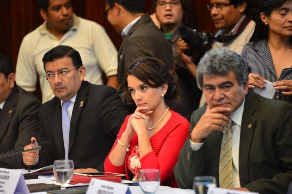 Solo dos diputados quedan en el Partido Patriota y hoy vieron a los jefes de la CICIG y el MP. (Foto: Jesús Alfonso/Soy502)