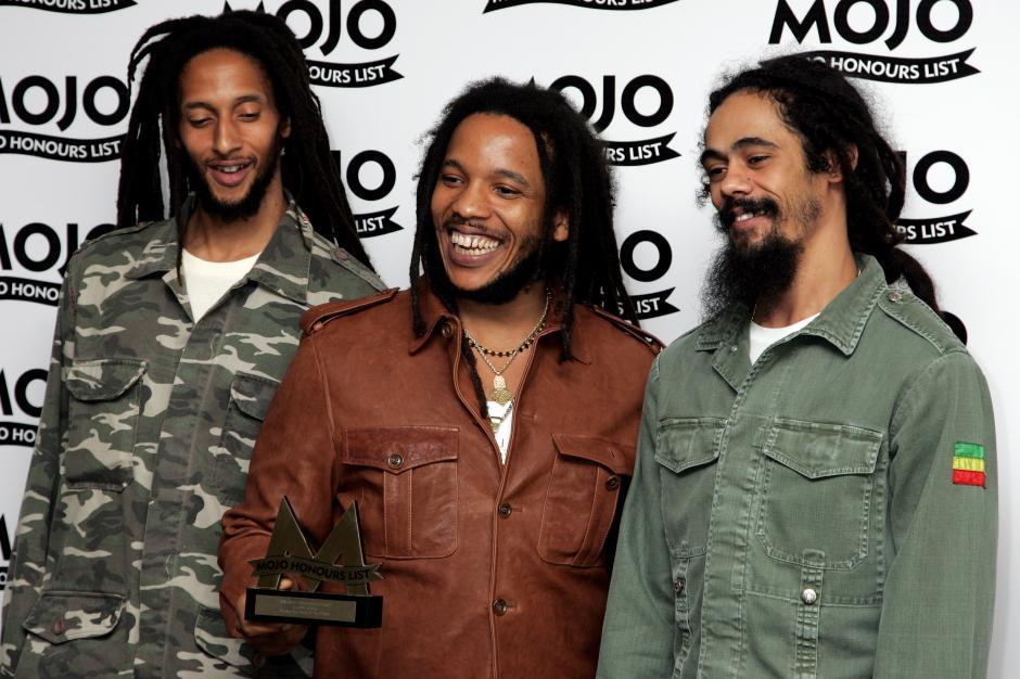 Julian, Stephen y Damian Marley, son algunos de los hijos de Bob que se dedican a la música