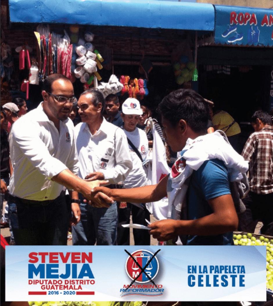 Mejía fue candidato a diputado por distrito de Guatemala. (Foto: @stevenmejiagt/Twitter)