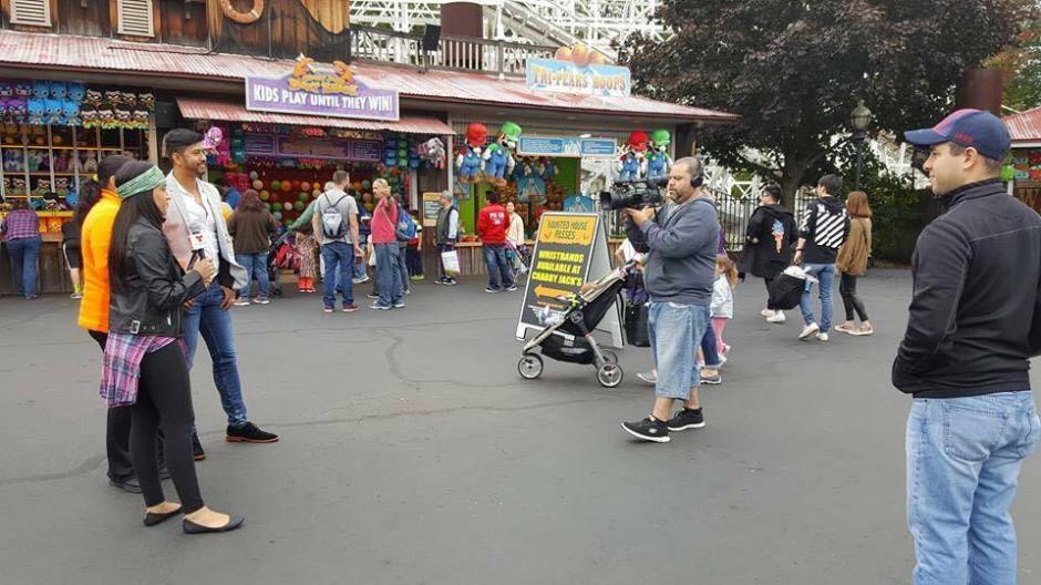 También se ha divertido haciendo coberturas en las calles. (Foto: Stiven Navarrete)