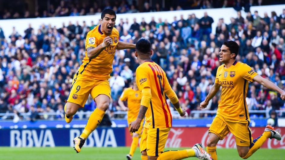 Luis Suárez anotó cuatro goles e hizo tres asistencias este miércoles ante La Coruña. (Foto: univision.com)