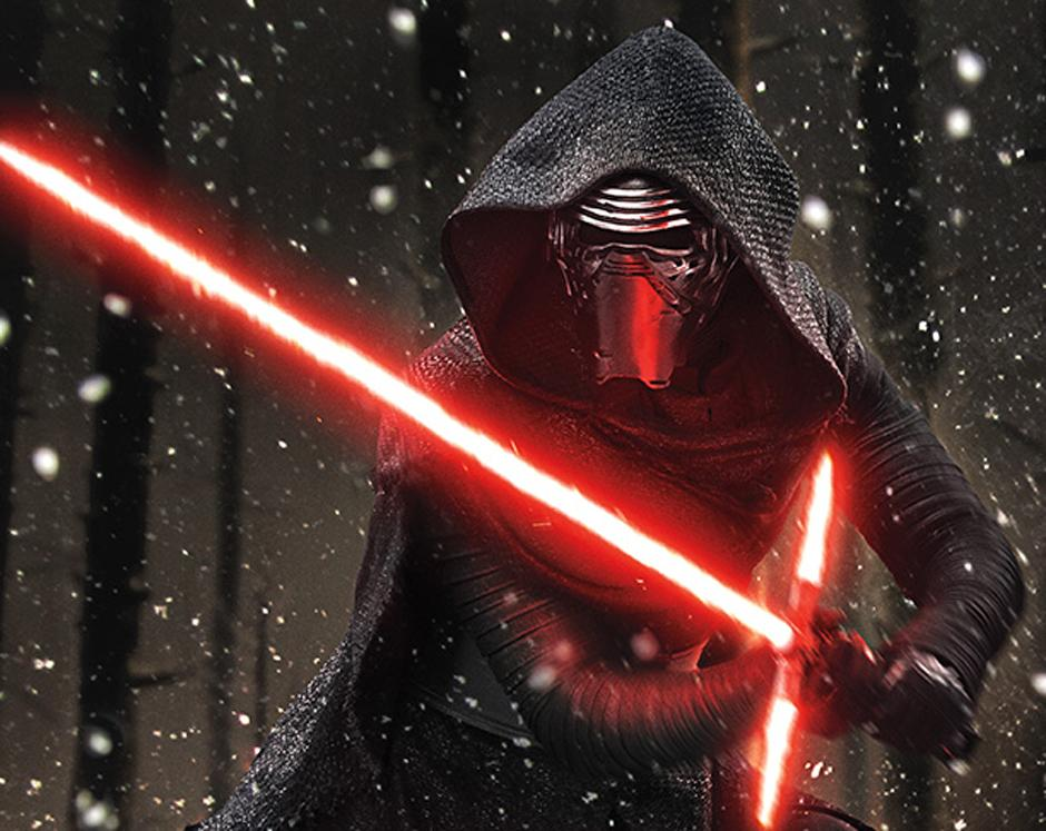 El nuevo villano Kylo Ren (interpretado por Adam Driver). (Foto Entertainment Weekly)