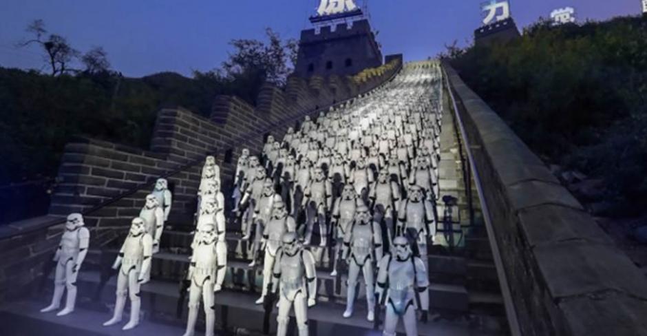 Durante el evento promocional de la película, se utilizaron 500 Stormtroopers plásticos. (Foto: Google)