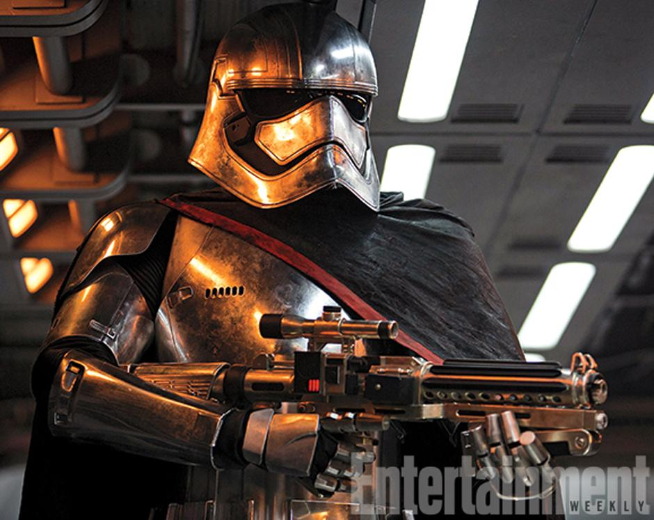 El Capitán Phasma de la Primera Orden. (Foto Entertainment Weekly)
