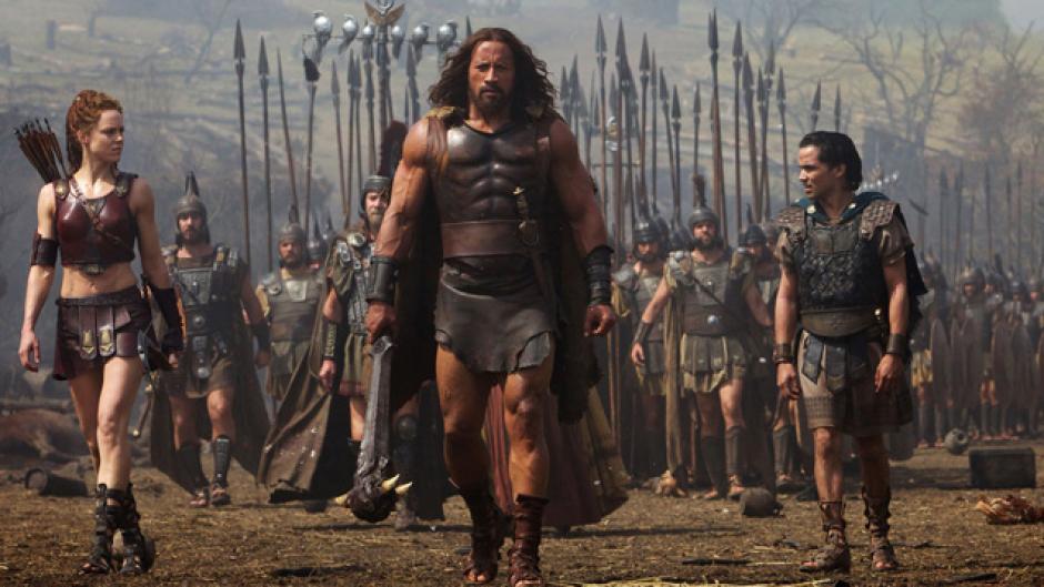 """Johnson es el estelar en la película """"Hércules"""", donde lucha contra ejércitos enemigos."""