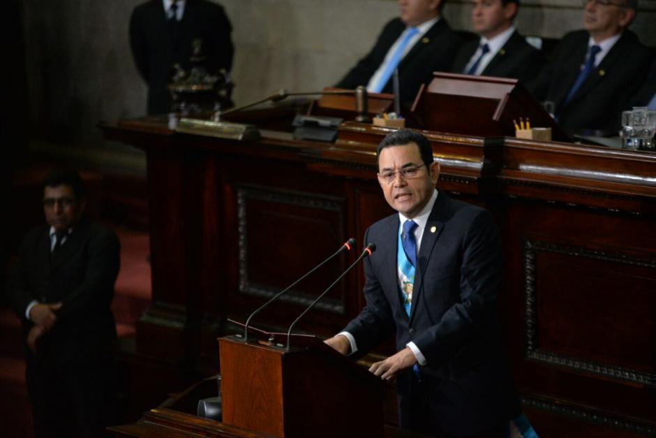 Jimmy Morales dijo también que no fue una falta de respeto. (Foto: Wilder López/Soy502)