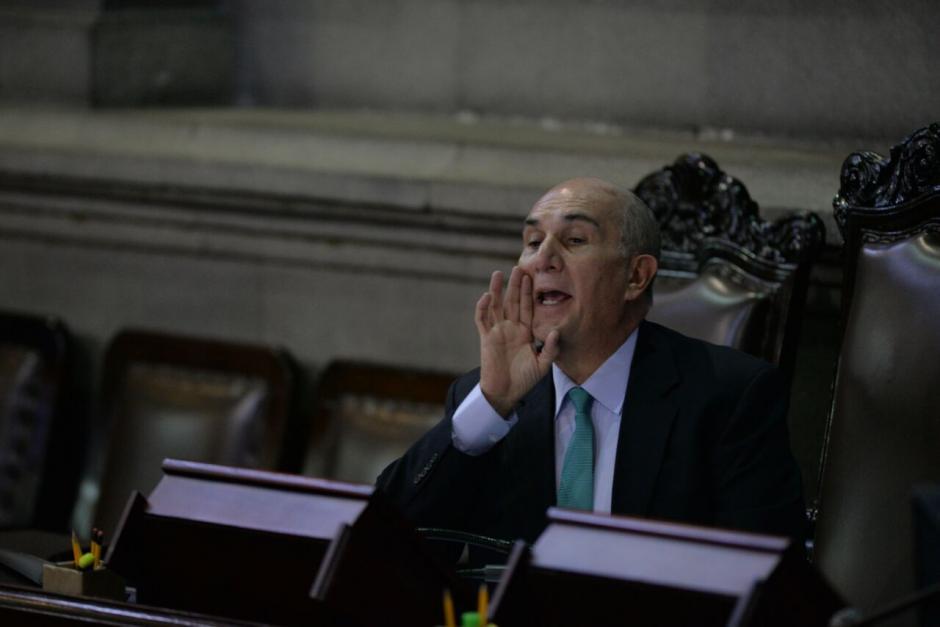 El Presidente del Congreso, Mario Taracena, presentó la propuesta. (Foto: Archivo/Soy502)