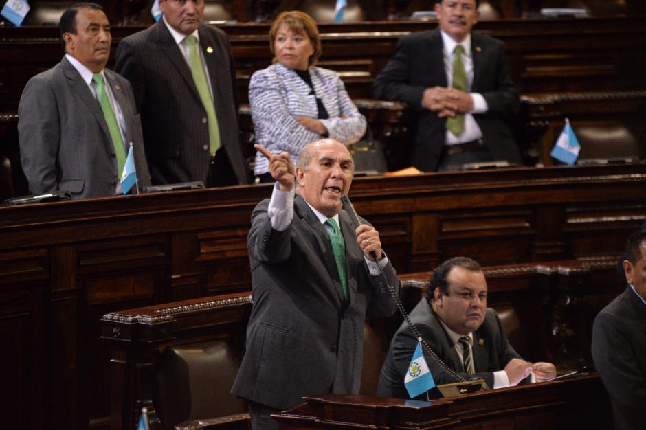 Taracena ha presentado la propuesta de desaforar a Rabbé en dos ocasiones. (Foto: Wilder López/Soy502)