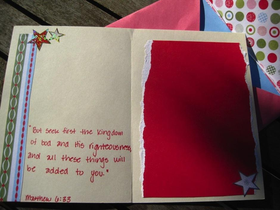 Estas tarjetas navideñas, cargadas de amor e imaginación, estan hechas con revistas, recomendación de Roberto Quijano. (Foto: Storyingupmytreasures)