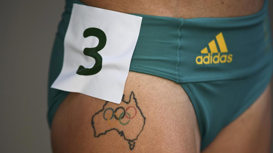 El tatuaje muy nacionalista de la australiana Genevieve Lacaze. (Foto: AFP)
