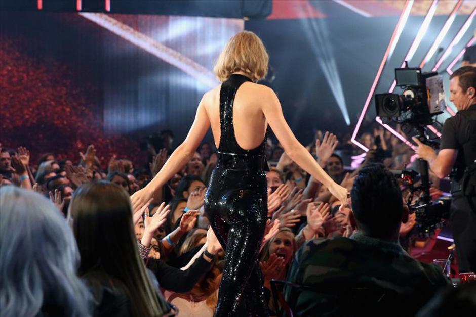 Taylor fue una de las ganadores de la noche. (Foto: AFP)