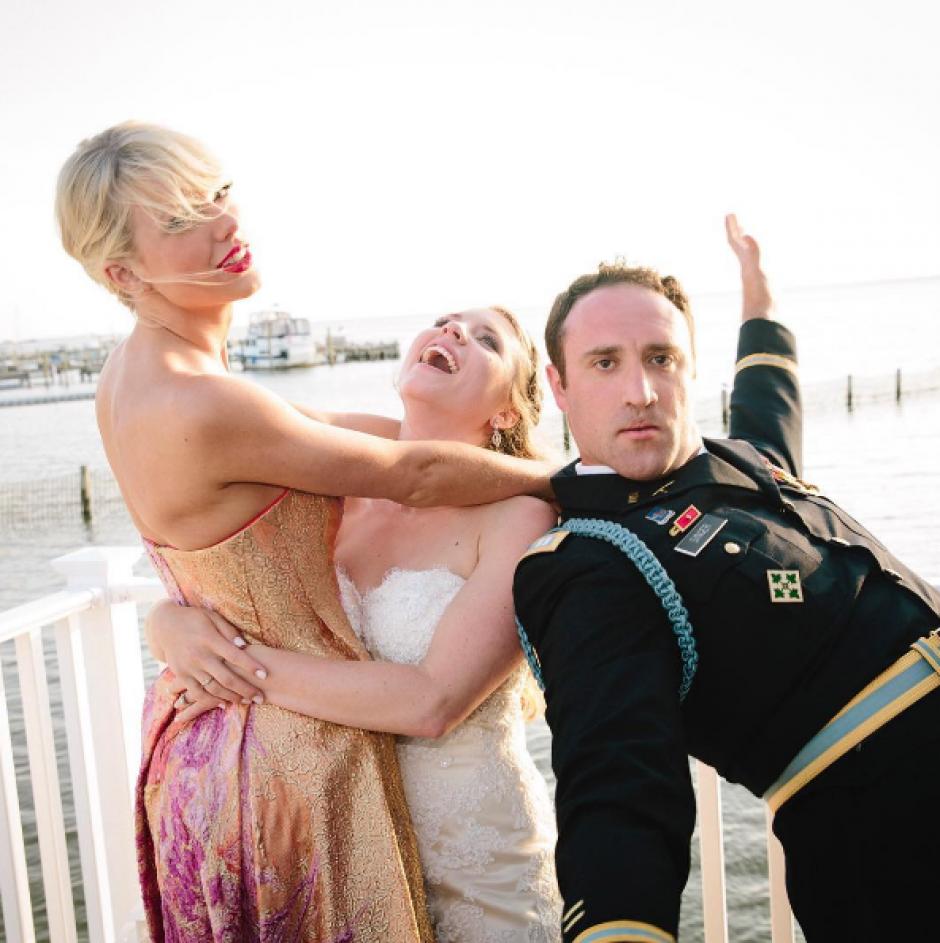 Taylor Swift llega a la boda de Max Singer y Kenya Smith. (Foto: Instagram/Taylor Swift)