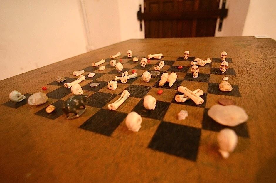 """""""Los juegos del poder"""", de Alejandro Marré. (Foto: Selene Mejía/Soy502)"""