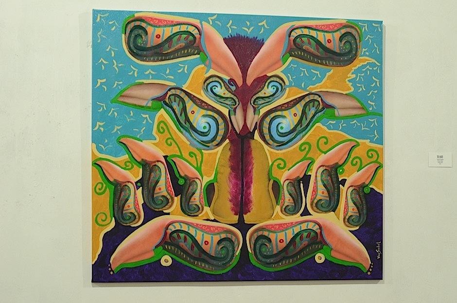 """Flor de siempre"", de Leslie Sechel. (Foto: Selene Mejía/Soy502)"