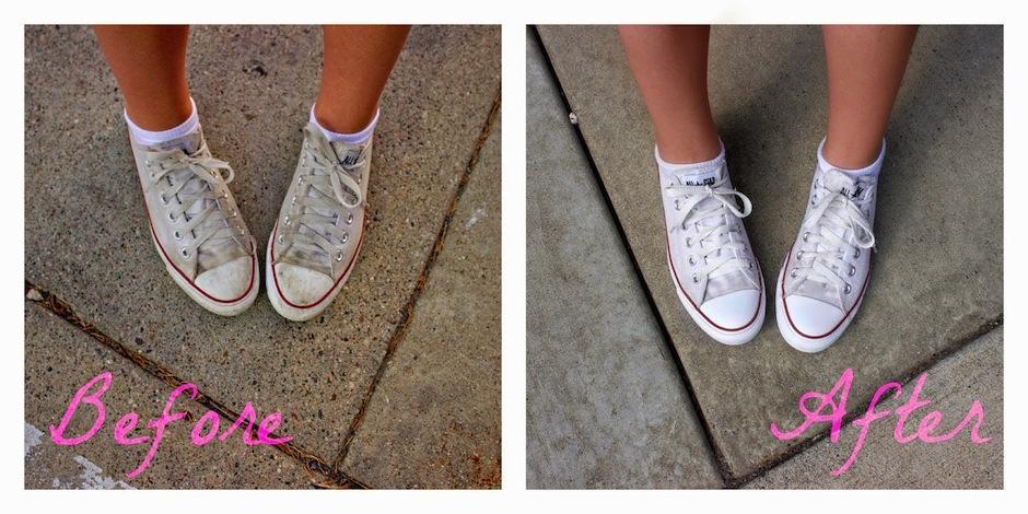 Con estos trucos lograrás que tus tenis queden blancos. (Foto: allthatshimmersblog.com)